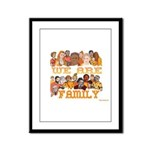 Jewish We Are Family Framed Panel Print