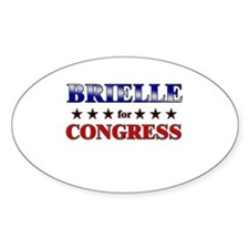 BRIELLE for congress Oval Decal