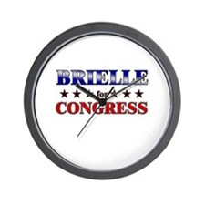 BRIELLE for congress Wall Clock