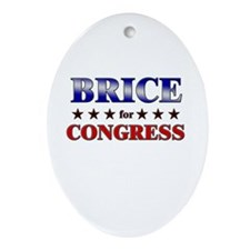 BRICE for congress Oval Ornament