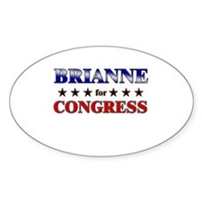 BRIANNE for congress Oval Decal