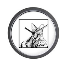 Serval reclined Wall Clock