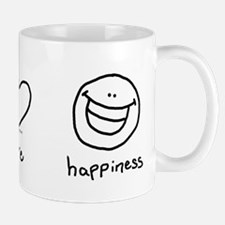 Peace, Love and Happiness Mug
