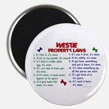 Westie Property Laws 2 Magnet