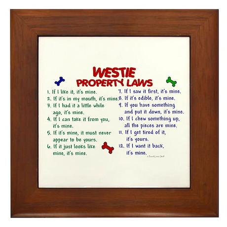 Westie Property Laws 2 Framed Tile