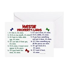 Westie Property Laws 2 Greeting Card