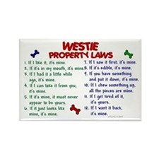 Westie Property Laws 2 Rectangle Magnet