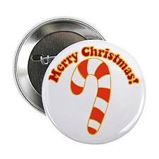 "Christmas Candy Cane Festive 2.25"" Button"