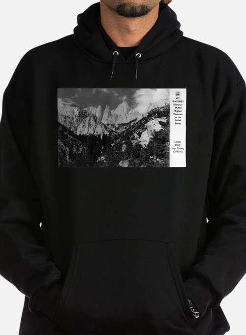 Lone Pine, CA - Mt. Whitney - Vintage Photo Hoodie