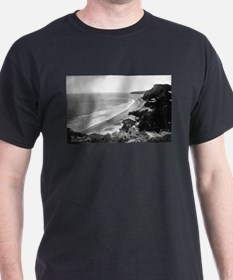 Bolinas, CA - Beach Front - Vintage Photo T-Shirt