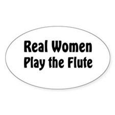 Real Women Play Oval Decal