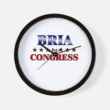 BRIA for congress Wall Clock