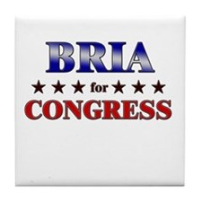 BRIA for congress Tile Coaster