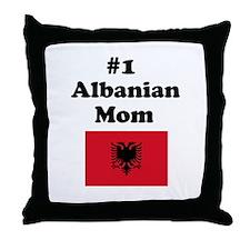 #1 Albanian Mom Throw Pillow