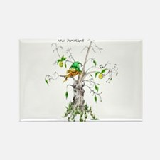 Elf in a Pear Tree - What Par Rectangle Magnet