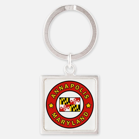 Cool Anne Square Keychain