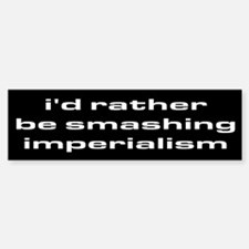 smash imperialism bumper sticker