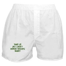 Lucky Horse Racing Boxer Shorts