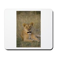 Lioness sits by the kill Mousepad