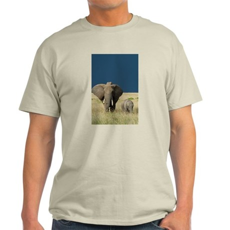 ELEPHANT MOTHER AND BABY Light T-Shirt