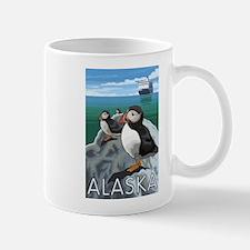 Alaska - Puffins & Cruise Ship Mugs