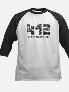 412 Pittsburgh PA Area Code Baseball Jersey