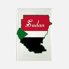 Cool Sudan Rectangle Magnet