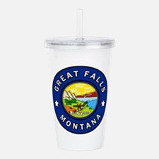 Great Falls Montana Acrylic Double-wall Tumbler