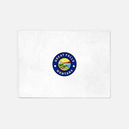 Great Falls Montana 5'x7'Area Rug