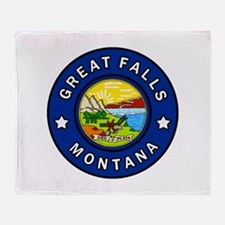 Great Falls Montana Throw Blanket