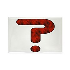 Red Question Mark Rectangle Magnet
