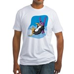 Relaxing Penguin Fitted T-Shirt