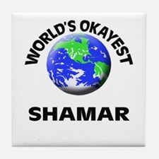 World's Okayest Shamar Tile Coaster