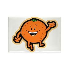 Dancing Orange Rectangle Magnet