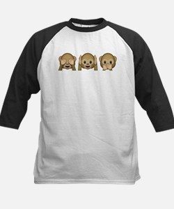3 Wise Monkeys Emoji Baseball Jersey