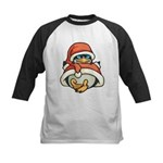 Christmas Penguin Kids Baseball Jersey