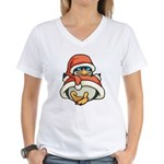 Christmas Penguin Women's V-Neck T-Shirt