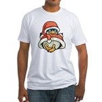 Christmas Penguin Fitted T-Shirt