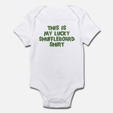Lucky Shuffleboard Infant Bodysuit