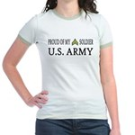 CPL - E4 - Proud of my soldier Jr. Ringer T-Shirt