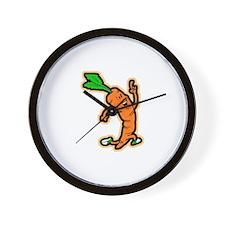 Dancing Carrot Wall Clock