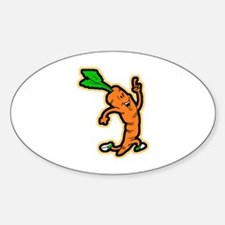 Dancing Carrot Oval Decal