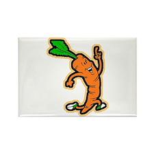 Dancing Carrot Rectangle Magnet