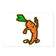 Dancing Carrot Postcards (Package of 8)