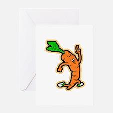 Dancing Carrot Greeting Card