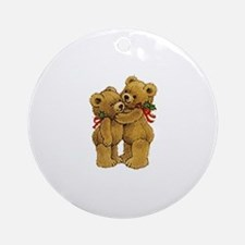 Christmas Bears Ornament (Round)
