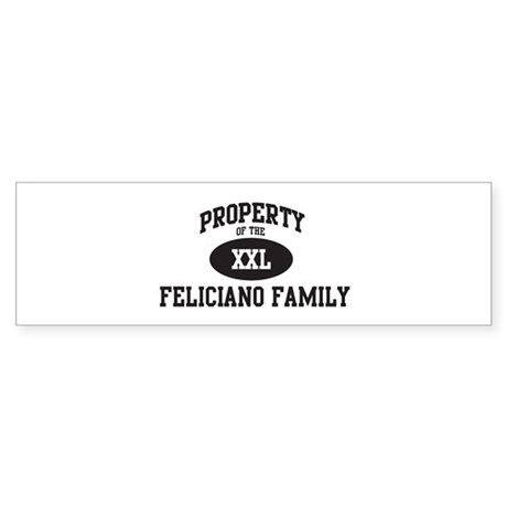 Property of Feliciano Family Bumper Sticker