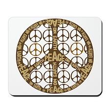 Peace On Earth Vintage Mousepad