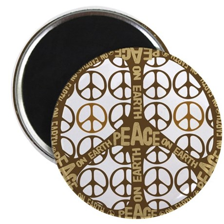 "Peace On Earth Vintage 2.25"" Magnet (10 pack)"