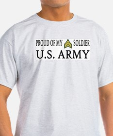 SGT - E5 - Proud of my soldier Ash Grey T-Shirt